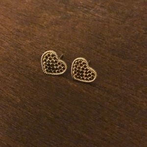 RARE Anna Beck Two-Tone Heart Studs